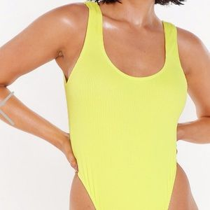 Ribbed High Leg One Piece NWT Nasty Gal